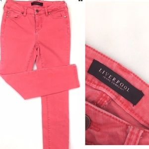 Liverpool Skinny Jeans Size 2 Solid Pink